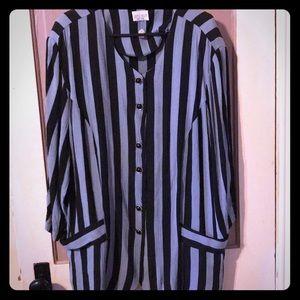 Tops - Striped women's blouse
